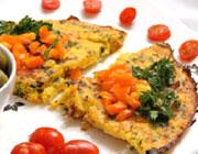 آموزش روش تهیهی کوکوی مرغ با سبزیجات