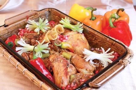 طرز تهیه خورشت مرغ و زیتون (غذای لبنانی)